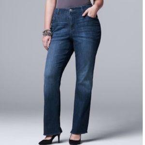 NEW Simply Vera Vera Wang Bootcut Jeans 22W
